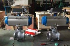 气动V型调节球阀气动执行器的介绍?